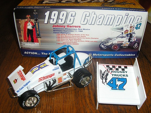 Herrera, Johnny 1996 Sprint Car Kings Row Champ AUTOGRAPHED